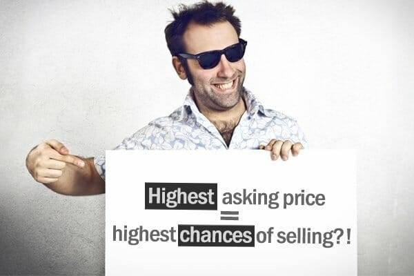 highest asking price